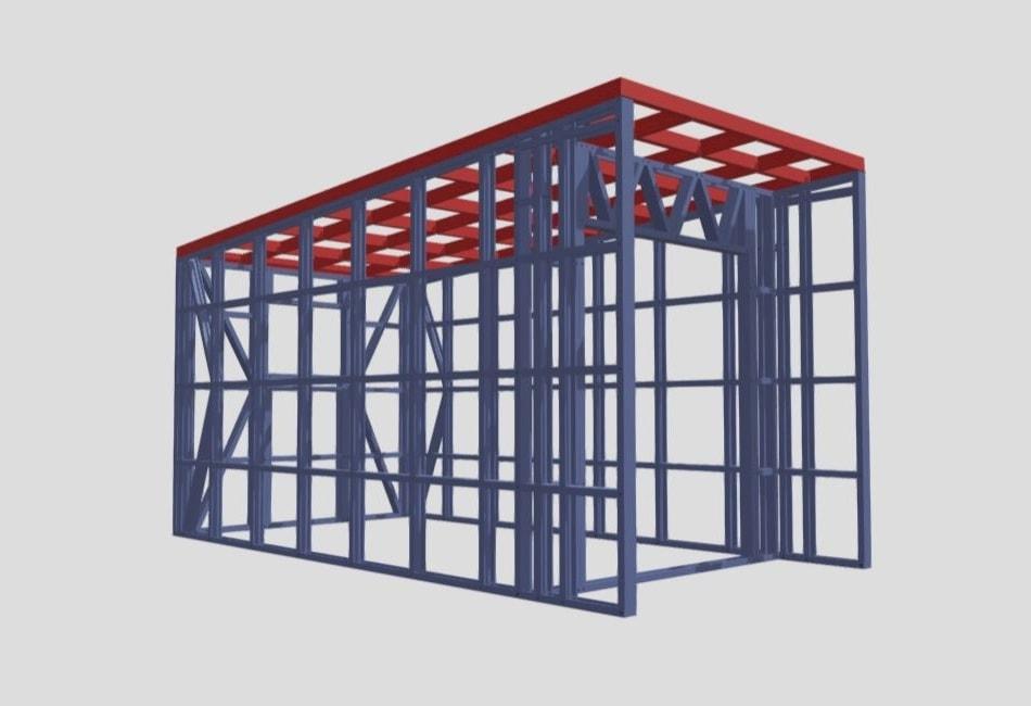 Computer render of Steel Frame Fabrication