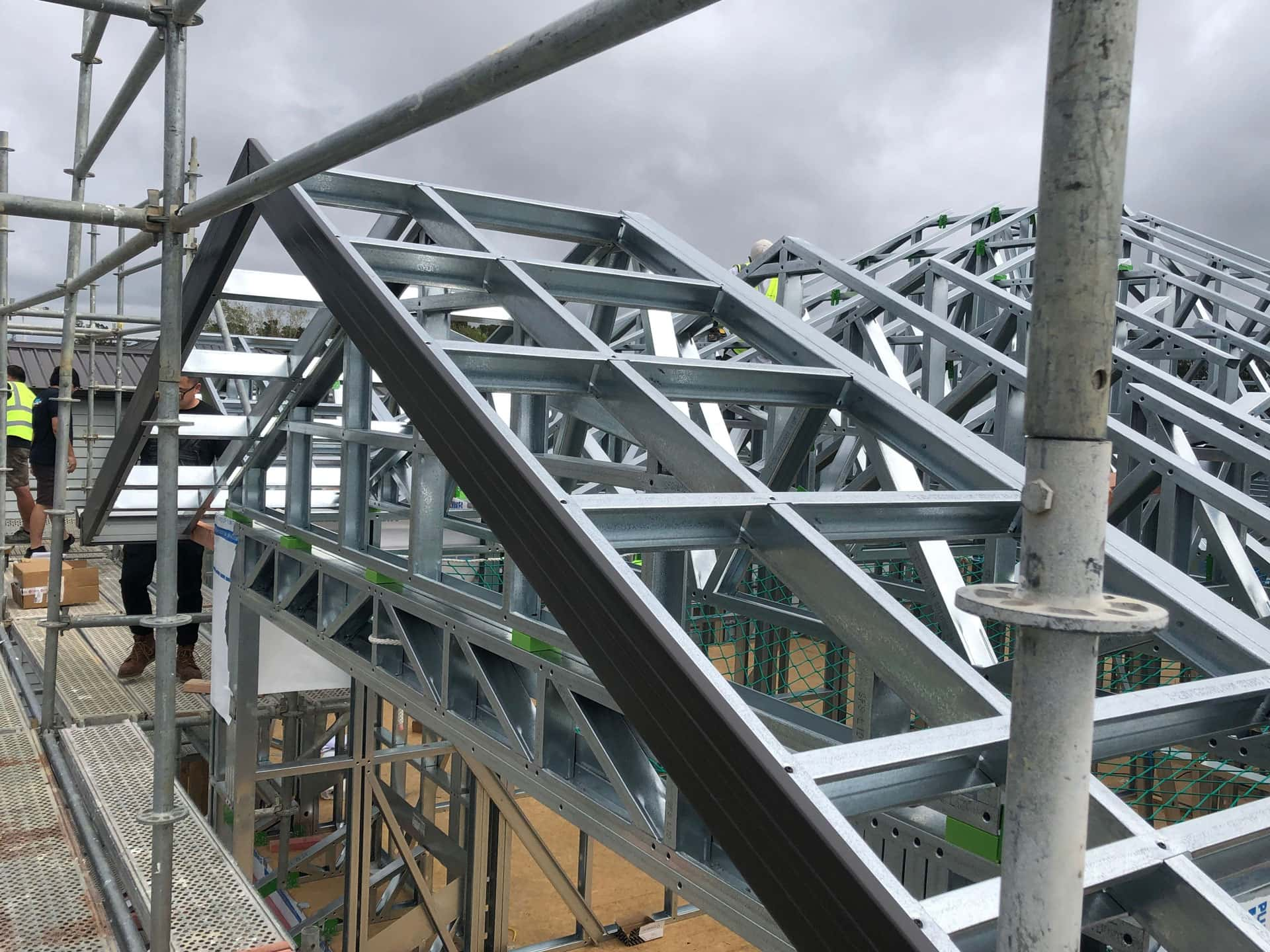 Construction site featuring Steel Frame Building NZ