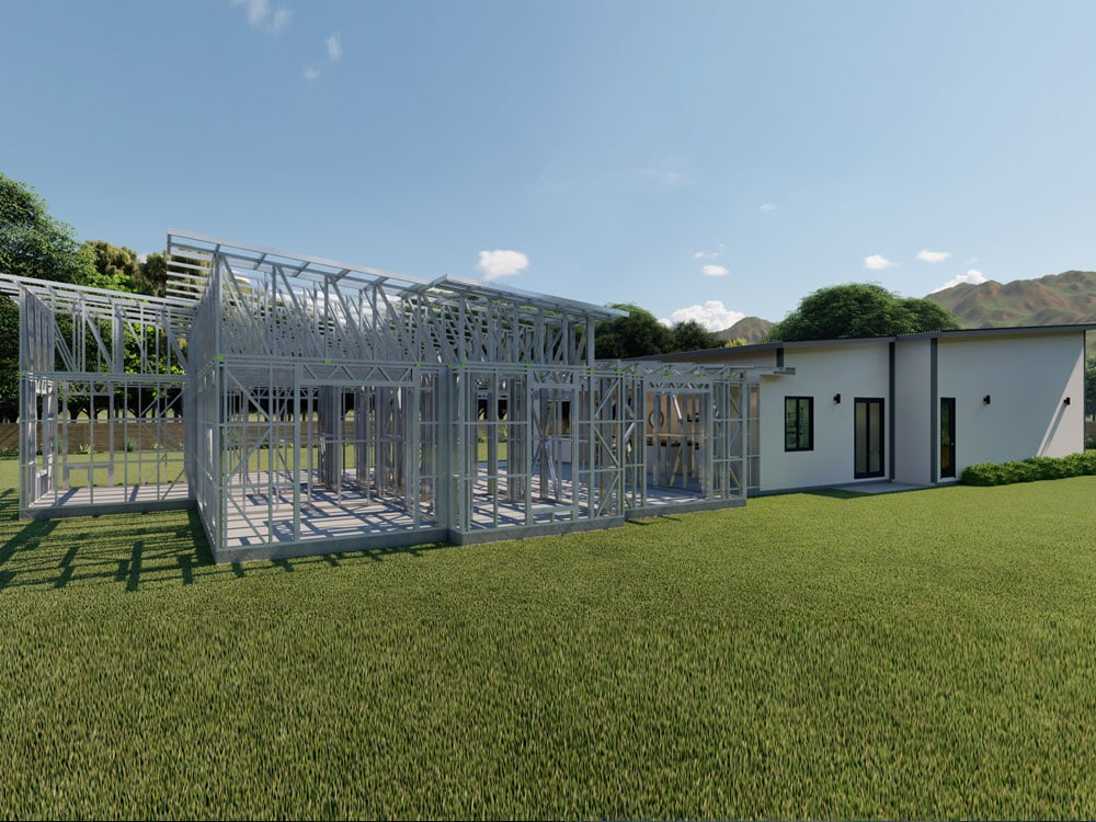 Building with exposed Steel Frames NZ